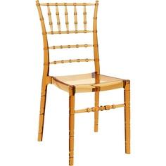 Krzesło CHIAVARI bursztynowe przezroczyste