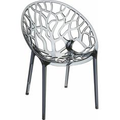Krzesło CRYSTAL szare dymione przezroczyste