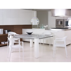 Krzesło CARMEN białe / lśniące białe