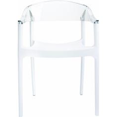 Krzesło CARMEN białe / przezroczyste