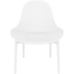 Fotel z podłokietnikami Sky Lounge białe Siesta