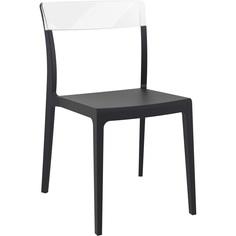 Krzesło FLASH czarne / przezroczyste