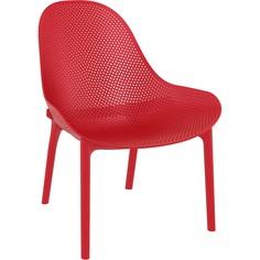 Fotel z podłokietnikami Sky Lounge czerwony Siesta