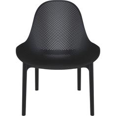Fotel z podłokietnikami Sky Lounge czarny Siesta