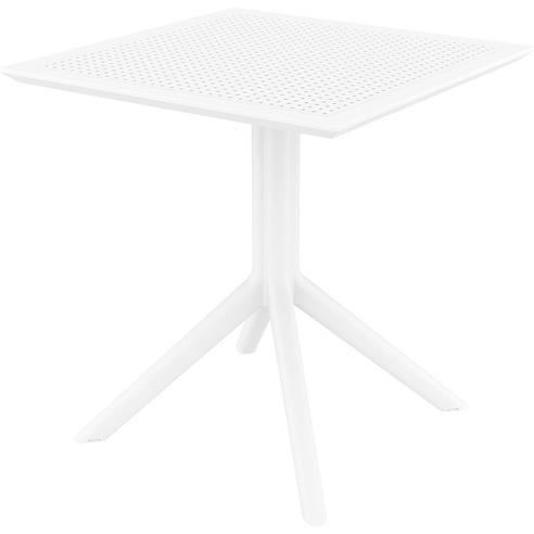 Stół ogrodowy plastikowy Sky 70x70 biały Siesta