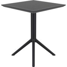 Składany stół ogrodowy plastikowy Sky 60x60 czarny Siesta