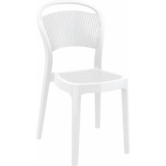 Krzesło BEE lśniące białe