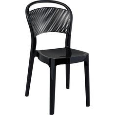 Krzesło BEE lśniące czarne