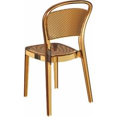 Krzesło BEE bursztynowe przezroczyste