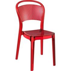 Krzesło BEE czerwone przezroczyste