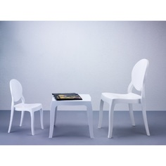Krzesło BABY ELIZABETH lśniące białe