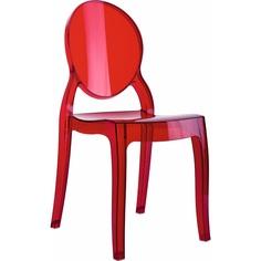 Krzesło BABY ELIZABETH czerwone przezroczyste