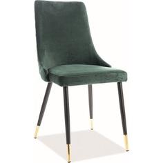 Krzesło tapicerowane Piano Velvet zielone Signal