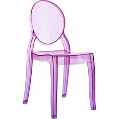 Krzesło BABY ELIZABETH różowe przezroczyste