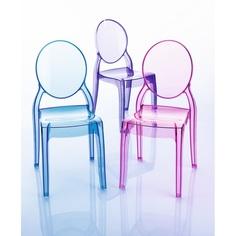 Krzesło BABY ELIZABETH niebieskie przezroczyste