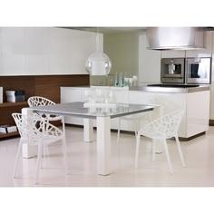 Krzesło CRYSTAL lśniące białe