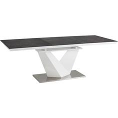 Stół Alaras II czarny + biały lakier