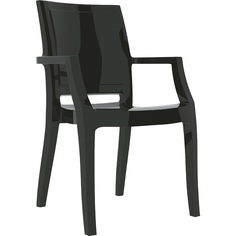 Krzesło ARTHUR lśniące czarne