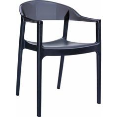 Krzesło CARMEN czarne / czarne przezroczyste