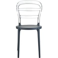 Krzesło MISS BIBI ciemnoszare / przezroczyste