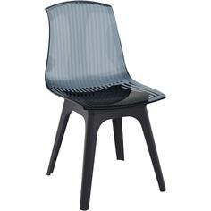 Krzesło ALLEGRA PP czarne / czarne przezroczyste