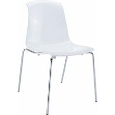 Krzesło ALLEGRA lśniące białe