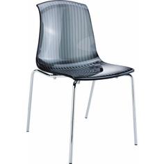 Krzesło ALLEGRA czarne przezroczyste
