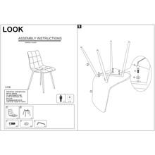 Krzesło pikowane z ekoskóry Look szare Signal do salonu, kuchni i jadalni.