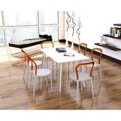 Krzesło MR BOBO białe / bursztynowe przezroczyste