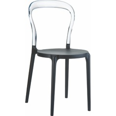 Krzesło MR BOBO czarne / przezroczyste
