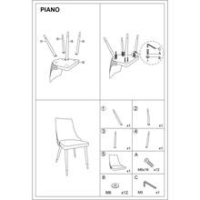 Stylowe Krzesło welurowe glamour Piano Velvet granatowe Signal do stołu w jadalni.
