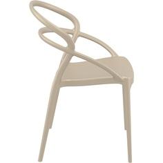 Krzesło PIA szarobrązowe