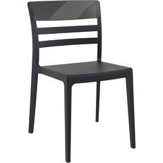 Krzesło MOON czarne / czarne przezroczyste