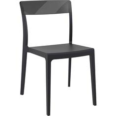 Krzesło FLASH czarne / czarne przezroczyste