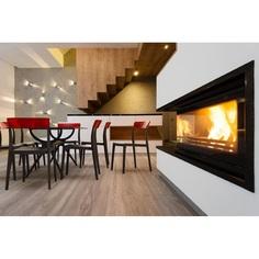 Krzesło FLASH czarne / czerwone przezroczyste