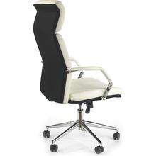 Fotel gabinetowy COSTA biało-czarny Halmar do biurka.