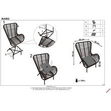 Fotel rattanowy boho Ikaro naturalny Halmar