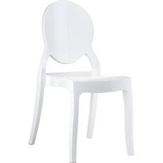 Krzesło ELIZABETH lśniące białe