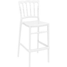 Krzesło OPERA BAR 75 lśniące białe