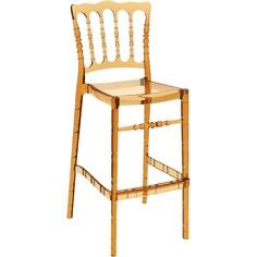 Krzesło OPERA BAR 75 bursztynowe przezroczyste