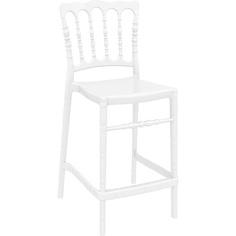 Krzesło OPERA BAR 65 lśniące białe