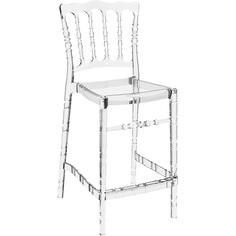 Krzesło OPERA BAR 65 przezroczyste