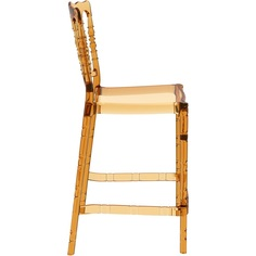 Krzesło OPERA BAR 65 bursztynowe przezroczyste