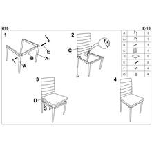 Krzesło z ekoskóry K70 czarne Halmar do salonu, kuchni i jadalni.
