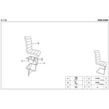Krzesło z ekoskóry K132 biało-czarne Halmar do salonu, kuchni i jadalni.