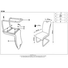Krzesło z ekoskóry K184 brąz/champagne Halmar do salonu, kuchni i jadalni.