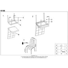 Krzesło pikowane z ekoskóry K186 czarno-białe Halmar do salonu, kuchni i jadalni.