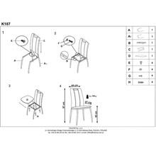 Krzesło nowoczesne z ekoskóry K187 beżowe Halmar do jadalni, kuchni i salonu.