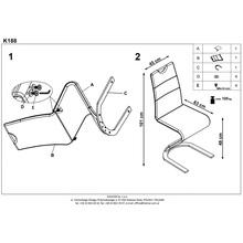 Krzesło nowoczesne z ekoskóry K188 białe Halmar do jadalni, kuchni i salonu.