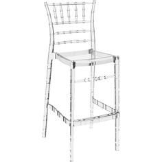 Krzesło CHIAVARI BAR 75 przezroczyste